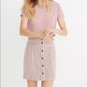 Madewell Denim Straight Mini Skirt in Luca Stripe